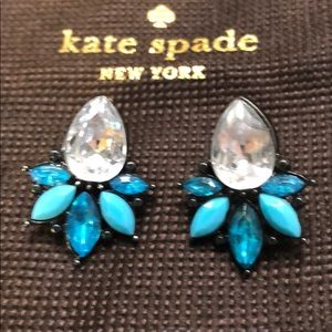 Turquoise and crystal Kate spade earrings